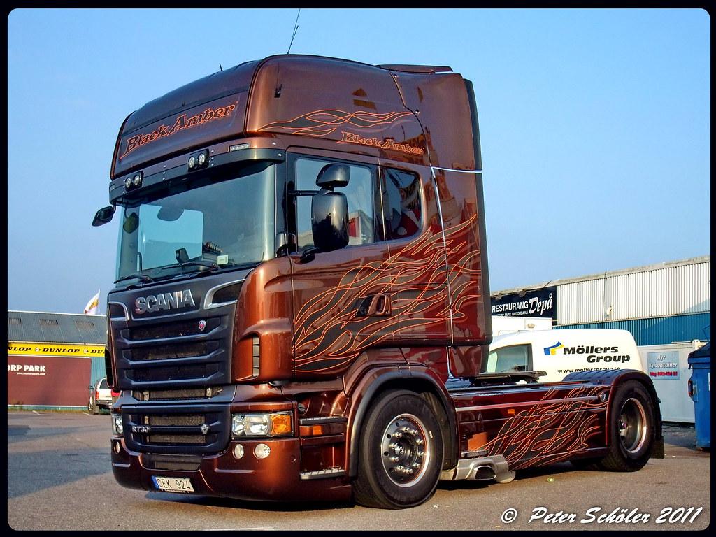 scania r730 svempas black amber ps truckphotos flickr. Black Bedroom Furniture Sets. Home Design Ideas