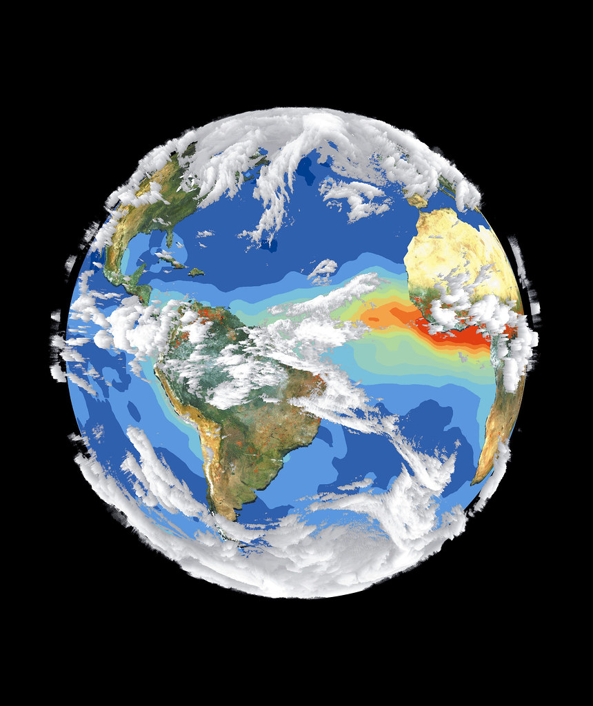 Satellite Image of Earth's Interrelated Systems and Climat ...