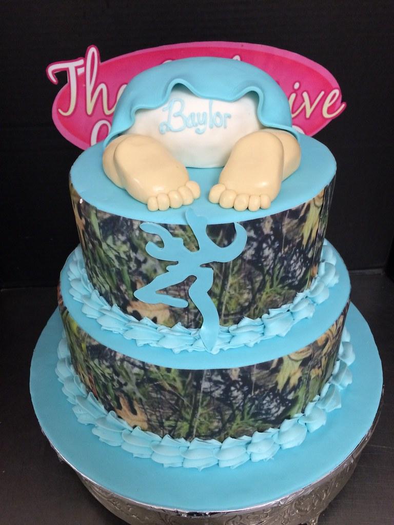 Camouflage Baby Shower Cake Camouflage Baby Shower Cake