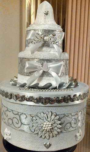 Wedding Themed Card box/Towel Cake combo