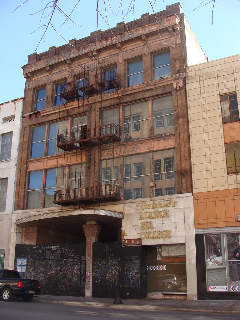 Abandoned Building Birmingham Al Sign On It Has