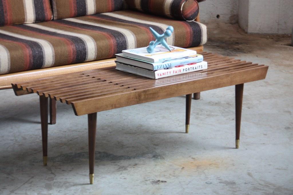 Nice Appealing Mid Century Modern Expanding Slat Bench Coffee Tu2026 | Flickr