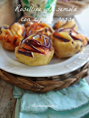 Roselline rustiche con cipolla rossa