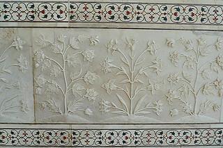 Agra - Taj Mahal wall details