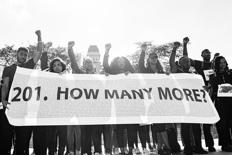 SU Die-In Protesting Police Brutality