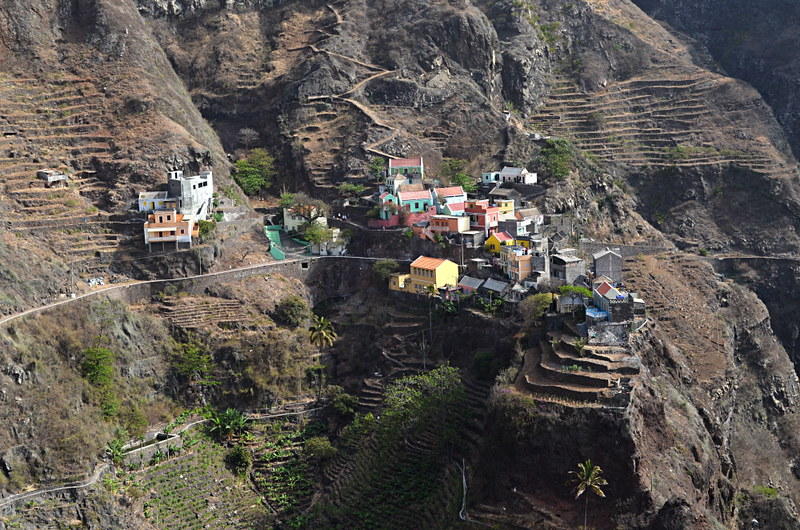 Hillside villages, Santo Antao, Cape Verde