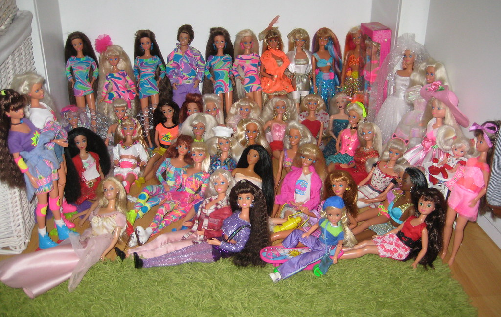 Barbies From The Early 90s my 90s Barbie Collection