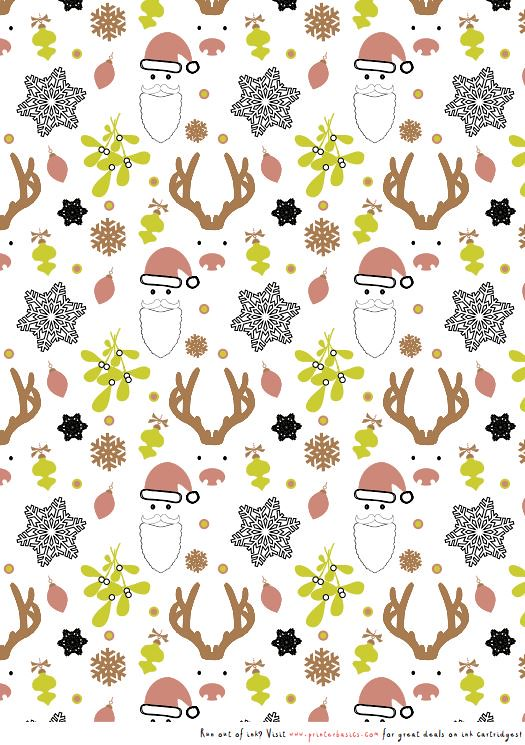 Printable Christmas wrapping paper | Print this Christmas-th ...