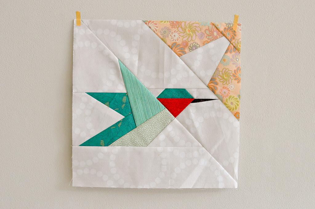 Katrina's Hummingbird block | Group baby quilt for Debbie ...