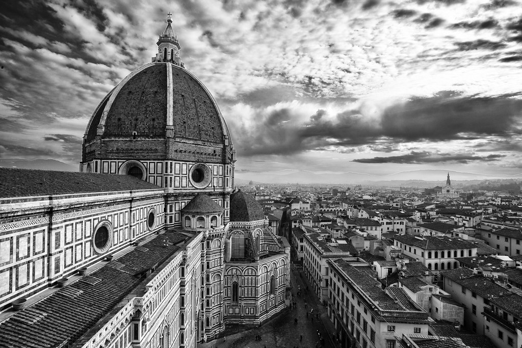 florence duomo city in black and white this view is from flickr. Black Bedroom Furniture Sets. Home Design Ideas