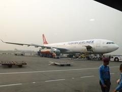 Flight from Kathmandu with Turkish Airways