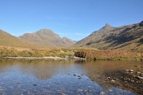 Ben Aden and Sgurr na Ciche across River Carnach