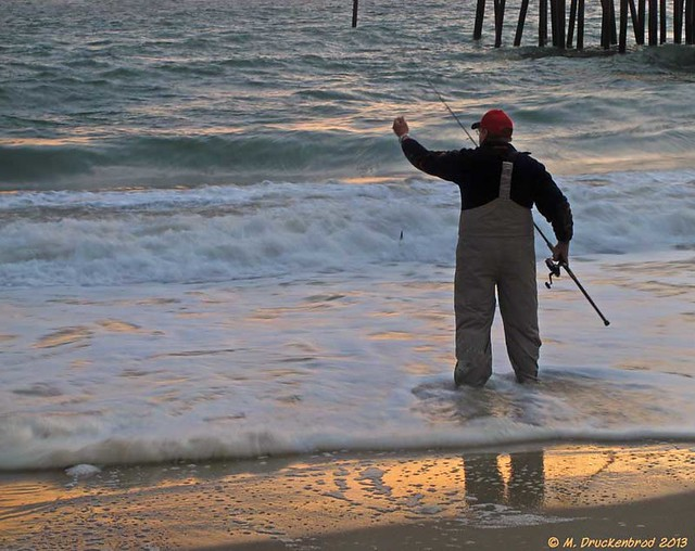 Outer Banks Surf Fishing In The Atlantic Ocean Kitty Hawk