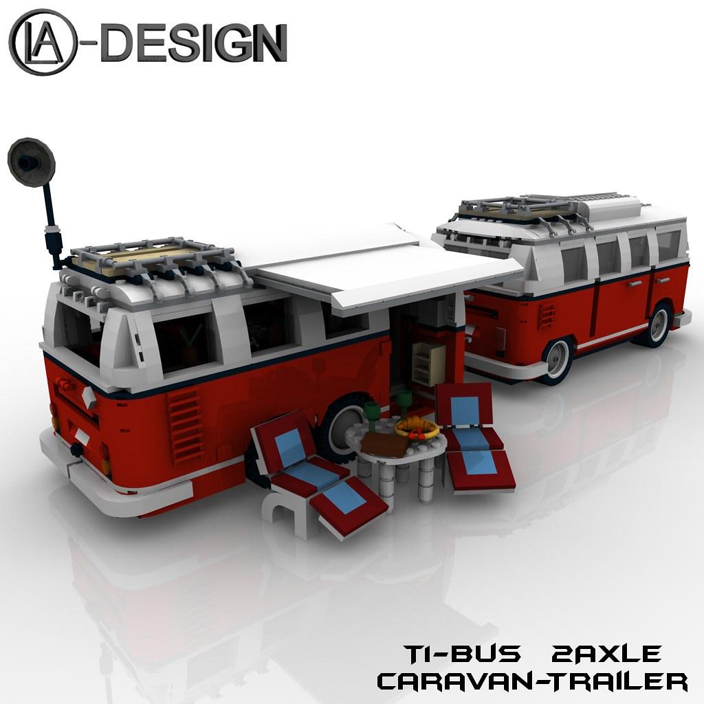 lego custom t1 10220 bus wohnwagen camper trailer 10 flickr. Black Bedroom Furniture Sets. Home Design Ideas