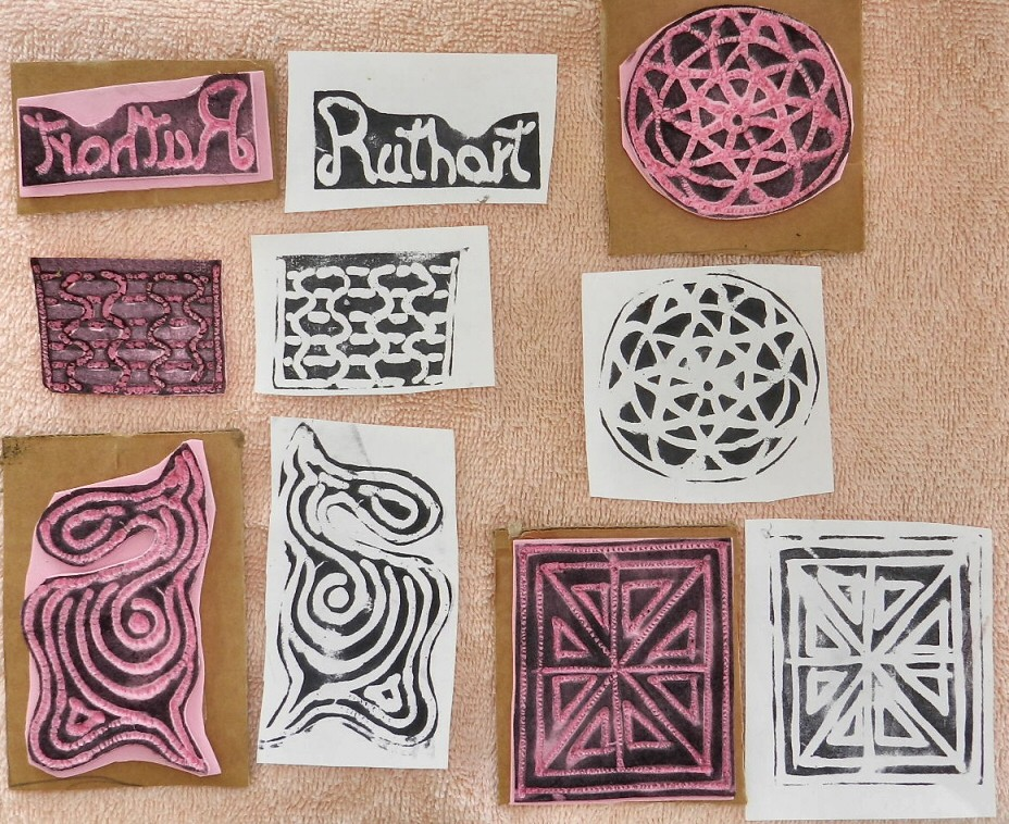 Foam stamps ruthart creative experiments january daily