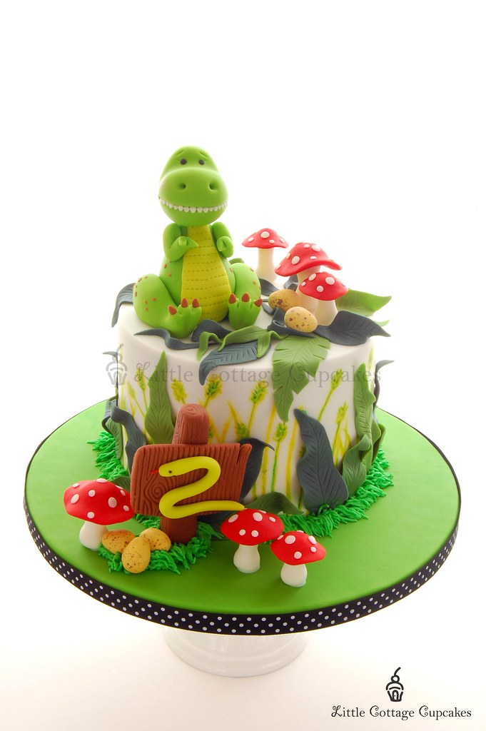 Dinosaur Cake For My Little Boy S 2nd Birthday He Loves