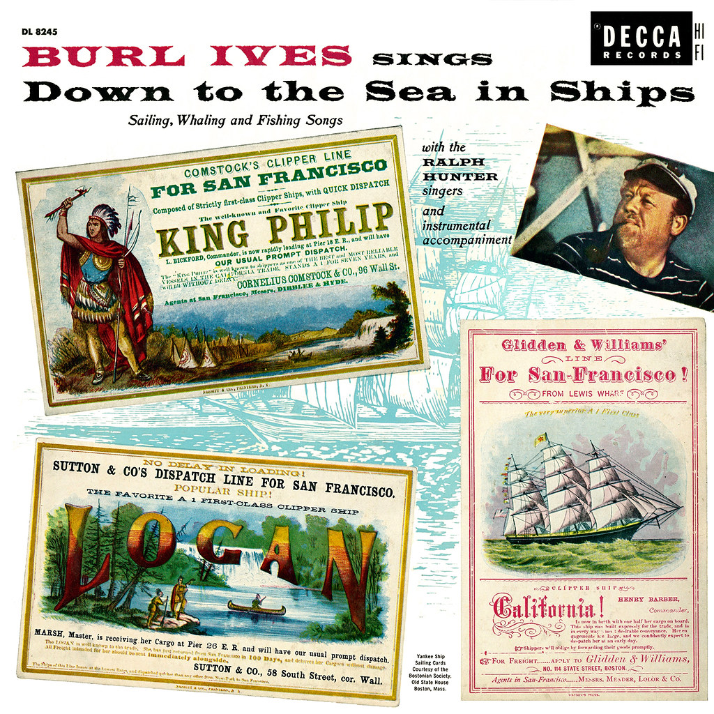 Burl Ives - Down to the Sea in Ships