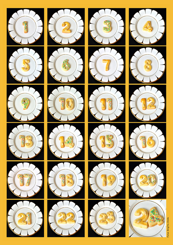 Gebackener Adventskalender DIY zartes Buttergebäck mit Rezept 39 Ziffern von 1 bis 24 ... Advent Weihnachten Weihnachtsplätzchen ... Fotos: Brigitte Stolle