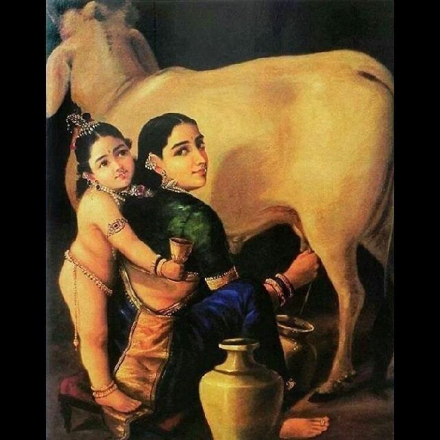 God Krishna With Cow Krishna God Love