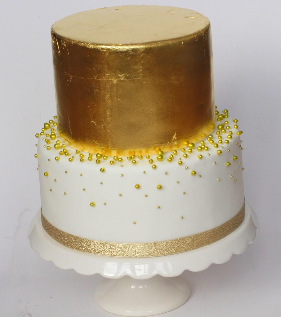 Gold Leaf Wedding Cake Gold Leaf Cake | Flickr