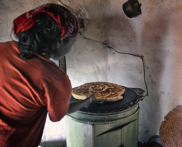 Making bread in Ethiopia