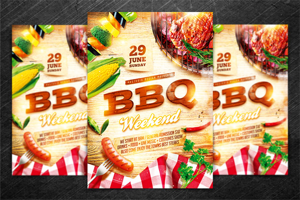bbq party flyer vol 2  psd template