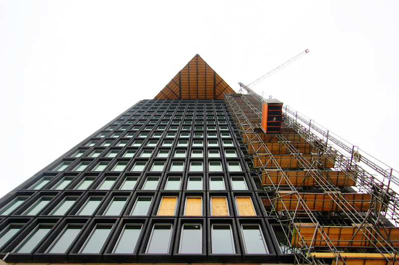 A'DAM Toren Amsterdam under construction elevator