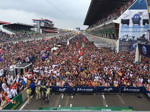 Alex' view from the podium