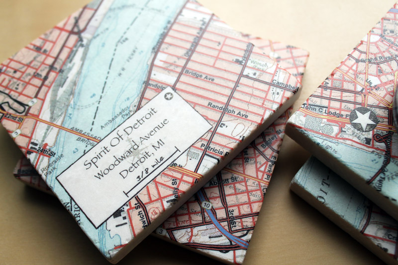 Wading In Big Shoes: Personalized Address Coasters From UncommonGoods