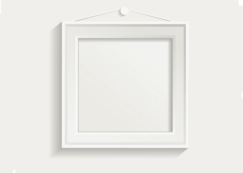 White-photo-frame-set-04-vector