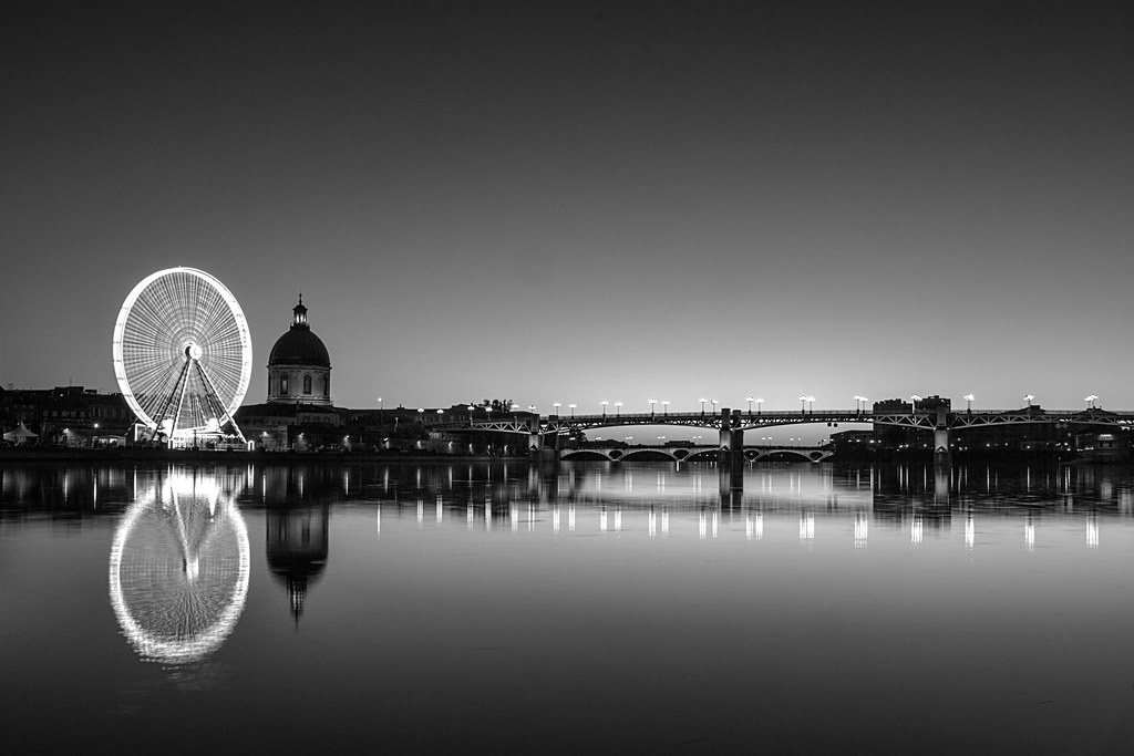 Pubg Black And White Wallpaper Hd: Grande Roue, Chapelle Saint-Joseph De La Grave Et Le Pont