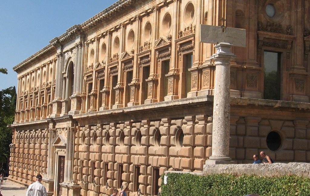 palais de charles quint  grenade  alhambra  andalousie