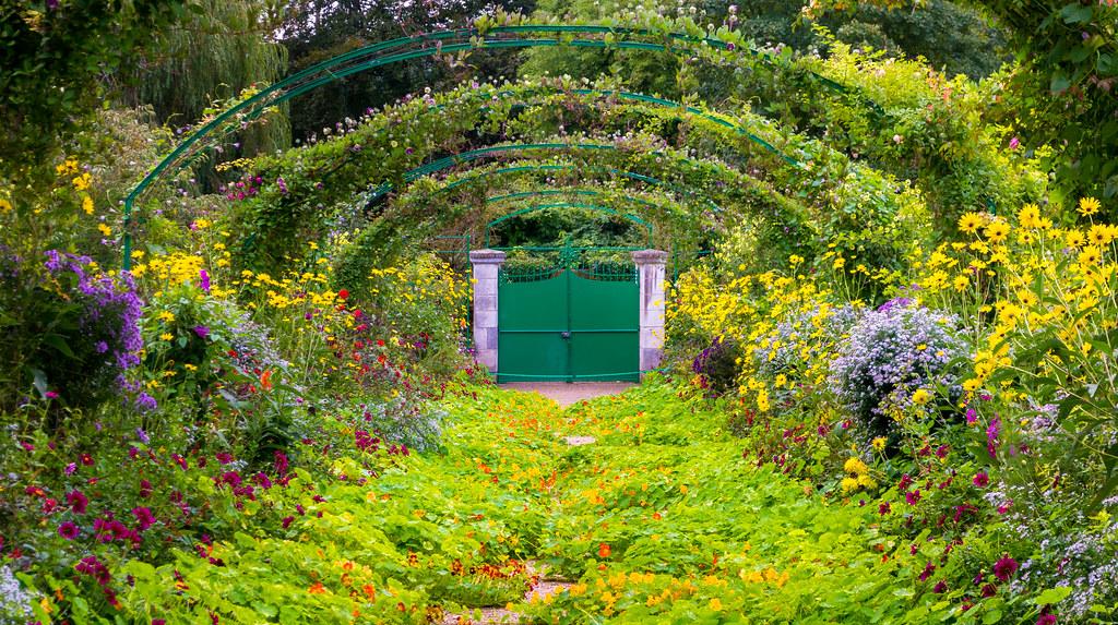 Garden Door Monet S Garden Giverny France Jpitha