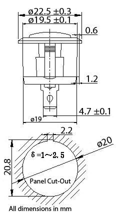 Rocker Switch Dimensions