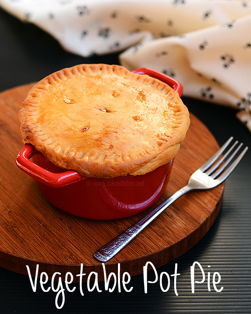 Vegetable pot pie recipe, Vegetarian pot pie | Rak's Kitchen