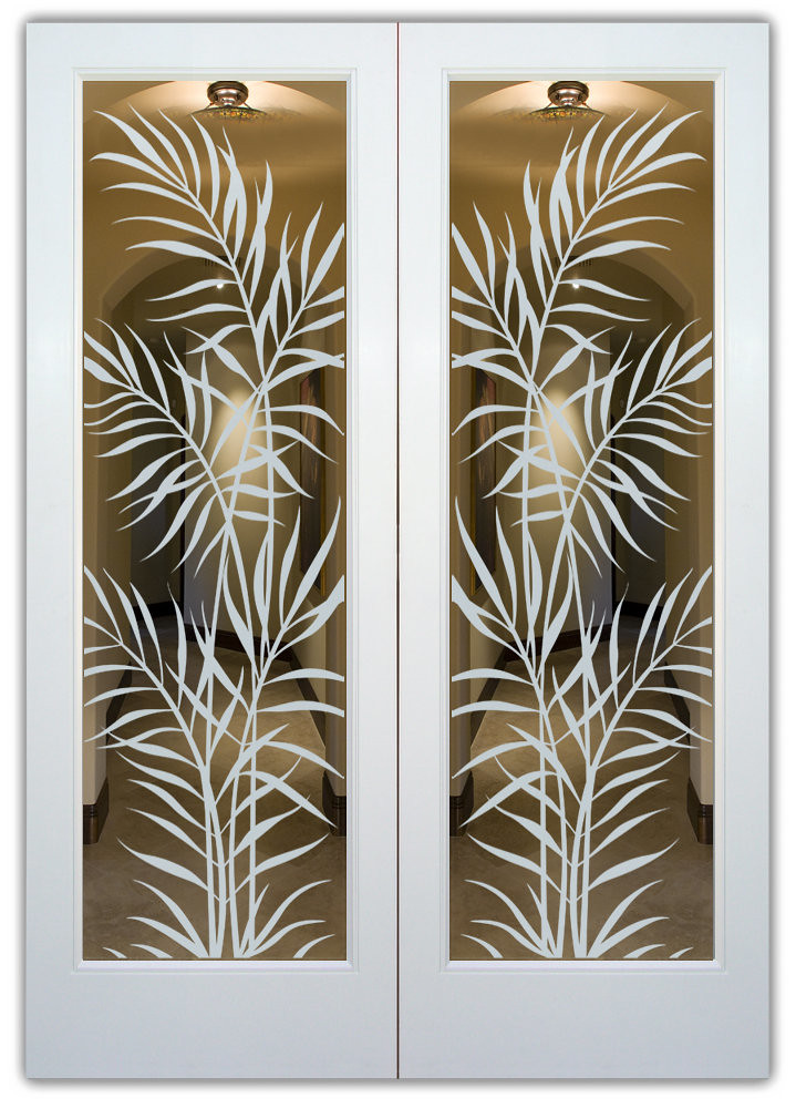Interior Glass Doors Ferns Frosted Glass Creates A