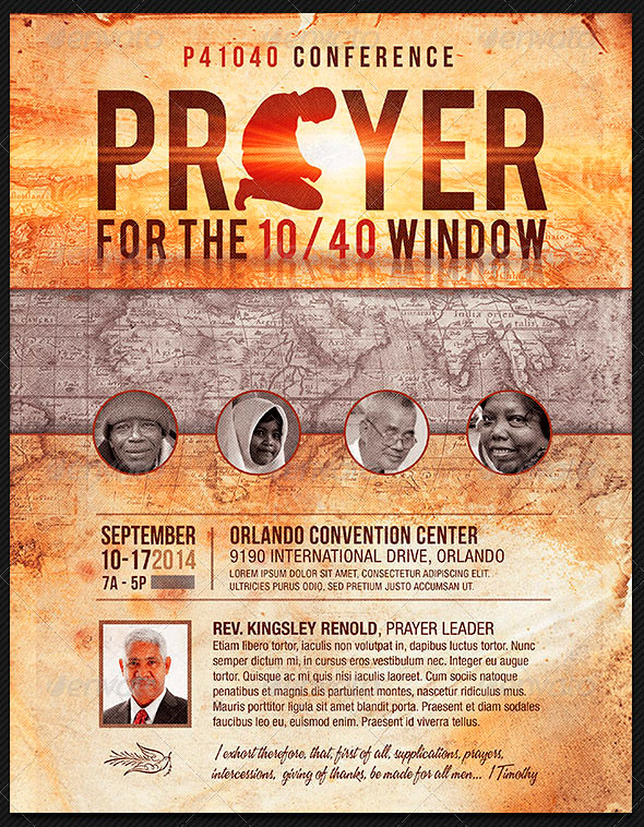 Prayer Conference Church Flyer Template The Prayer Confere – Conference Flyer Template