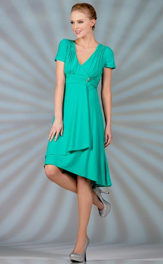 Jade green short bridesmaid dress jade green short for Jade green wedding dresses