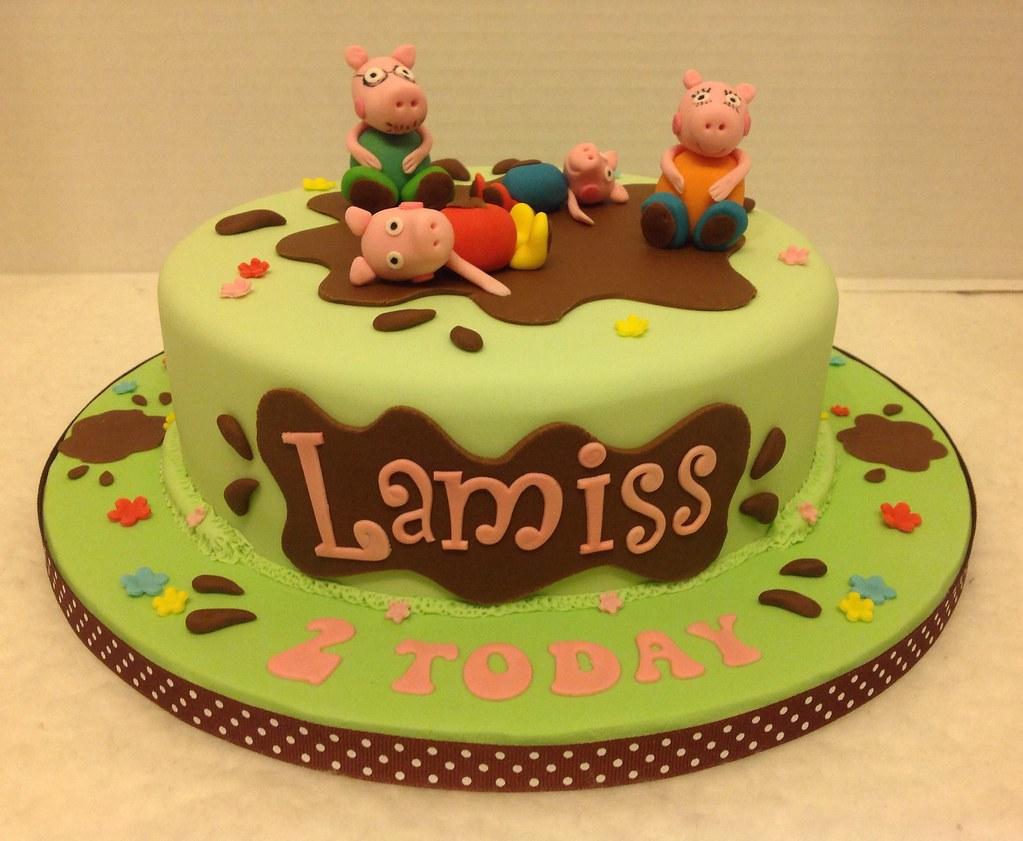 Muddy Puddles Birthday Cake