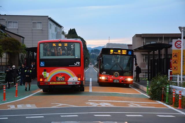 気仙沼BRT:不動の沢駅