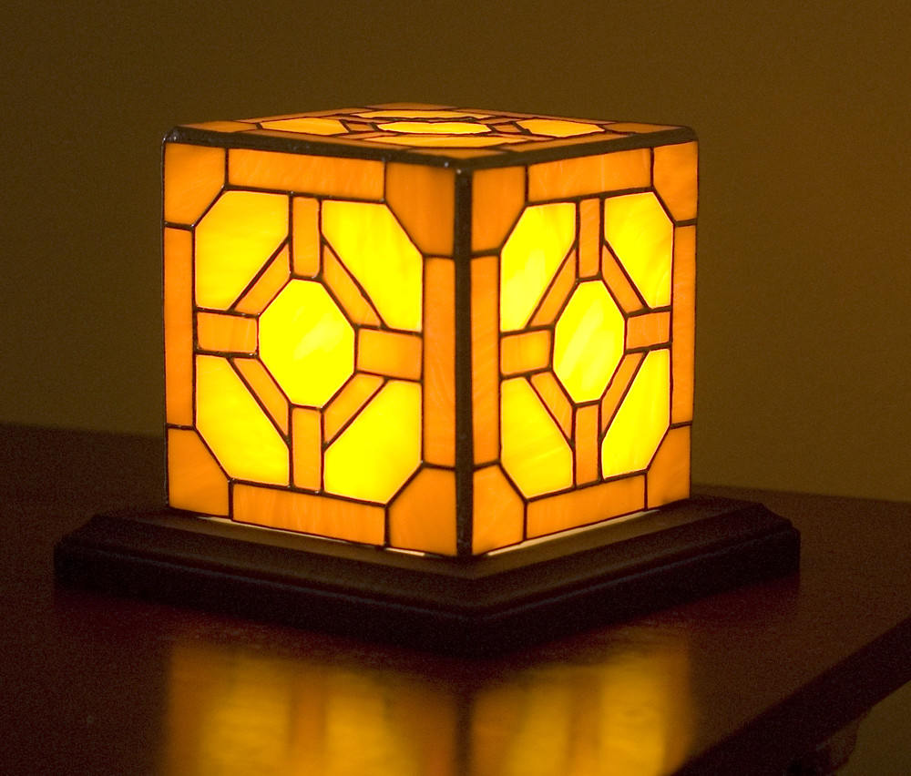 Stained Glass Redstone Lamp Inspired By Minecraft Flickr