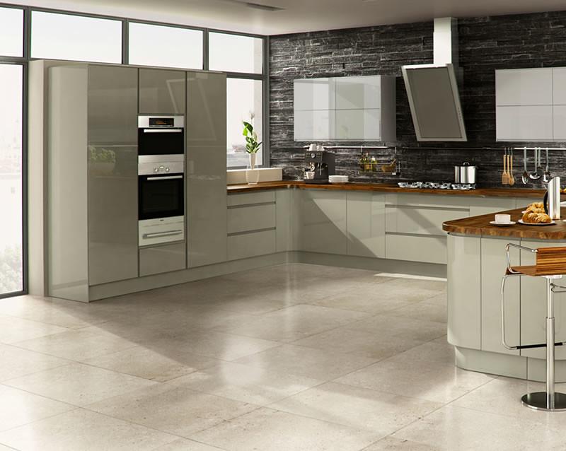 Welford Grey Kitchen   A Welford Grey High Gloss Kitchen ...