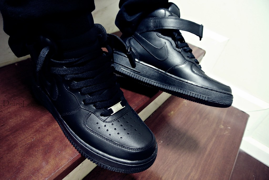 air force 1 all black mid on feet dzxng flickr