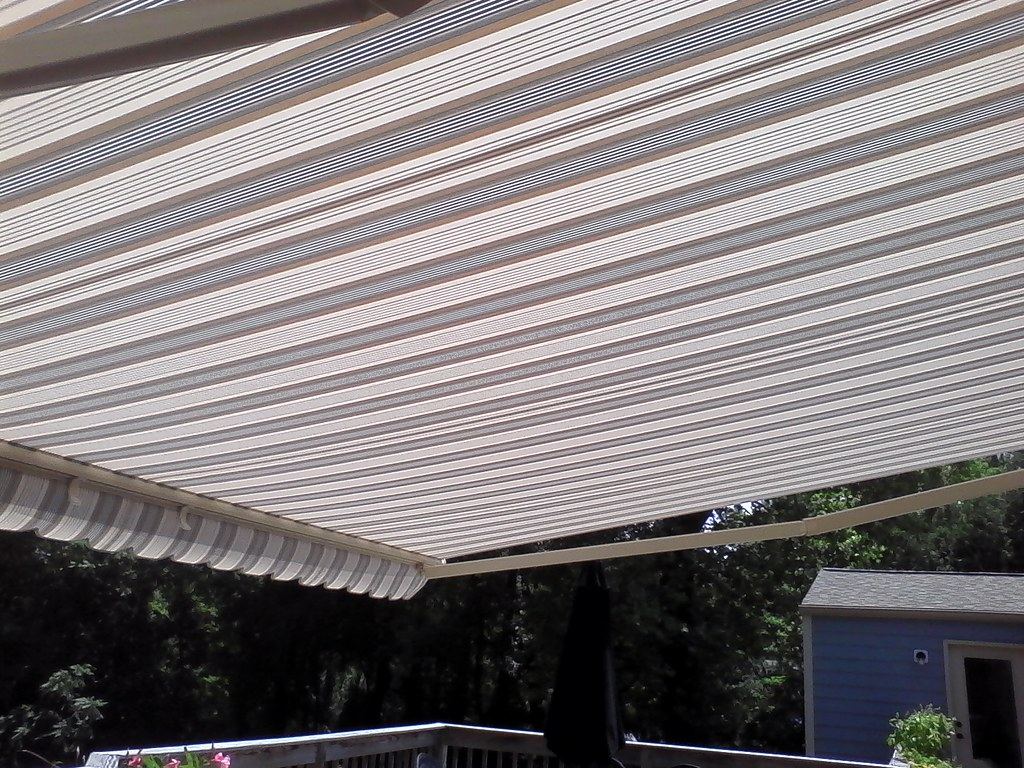 Striped Deck Awning Striped Fabric Awnings Make Such A