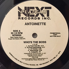 ANTOINETTE:WHO'S THE BOSS(LABEL SIDE-A)