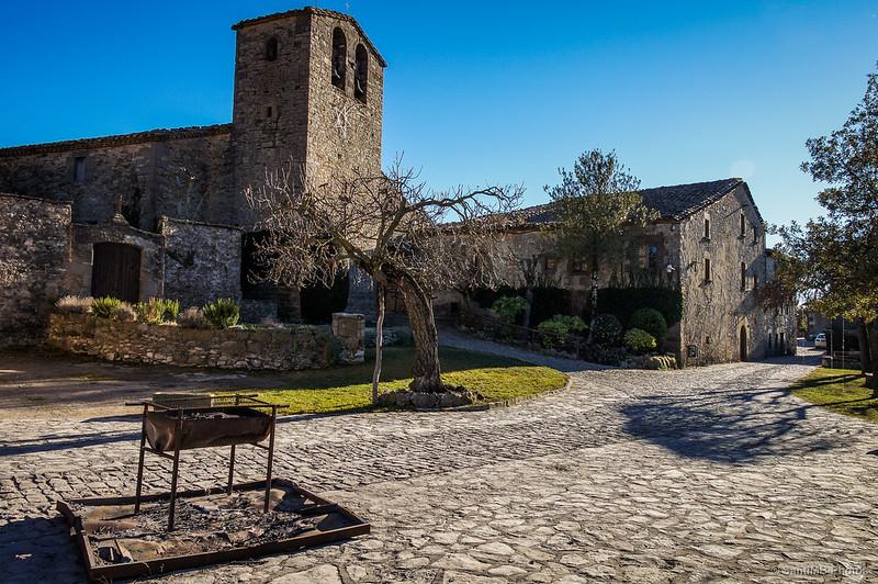 Finalizando la ruta en Sant Cristòfol de Tavertet.
