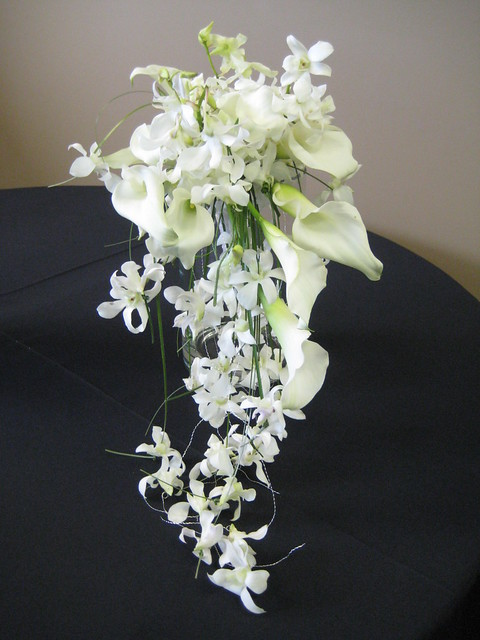 White calla lily orchid centerpiece flickr photo