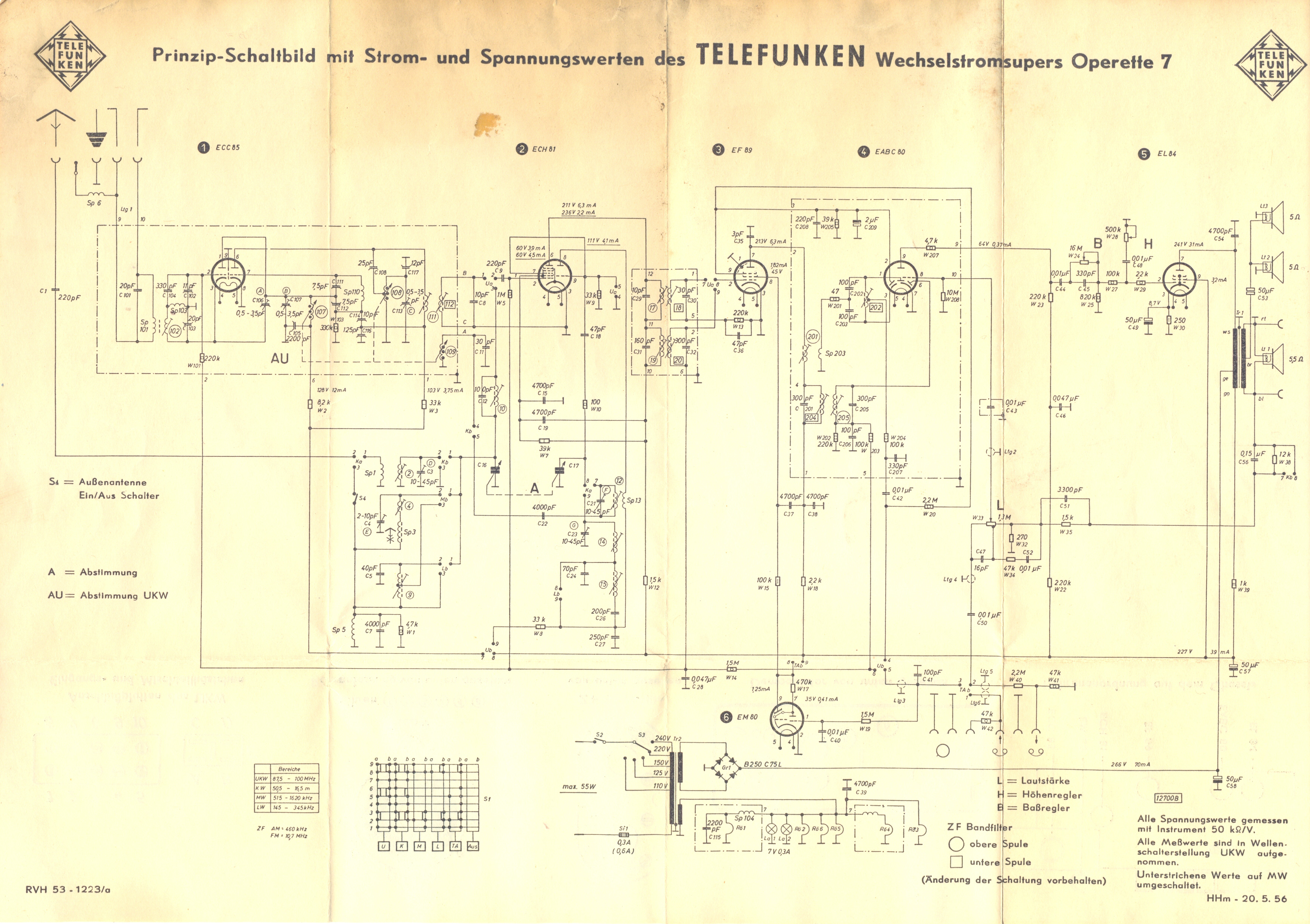 Telefunken    Operette 7 radio   Hazardous Physics