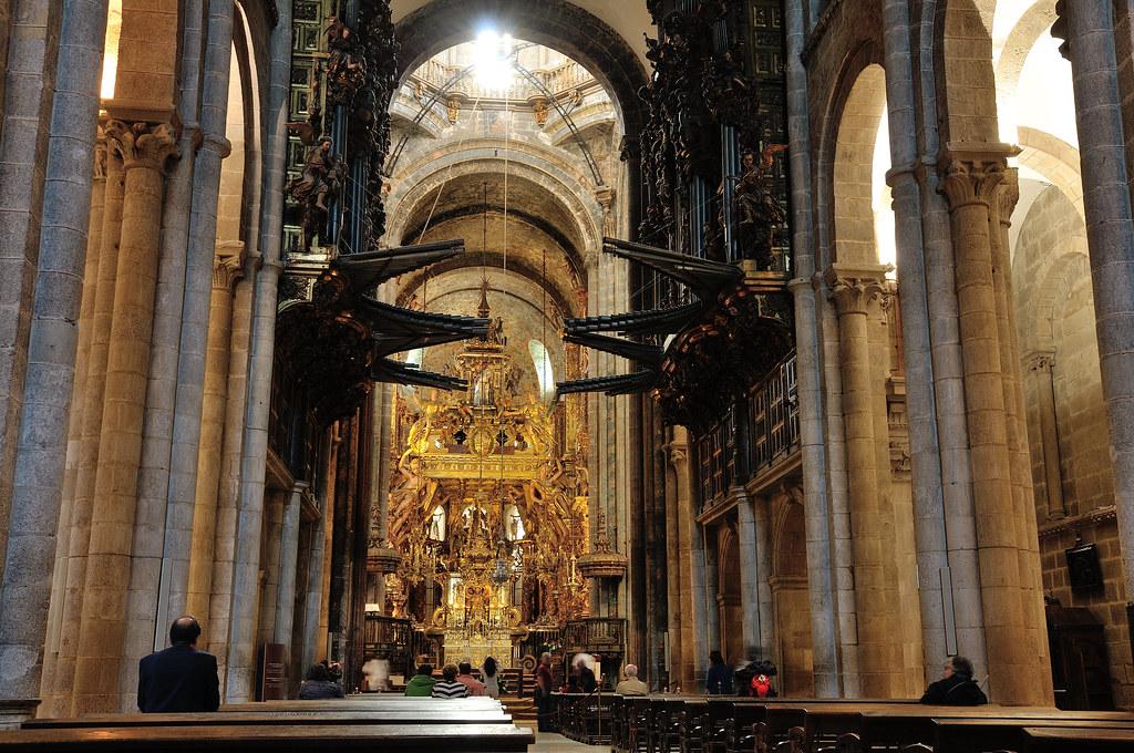 Catedral de santiago de compostela the cathedral of - Interior santiago de compostela ...