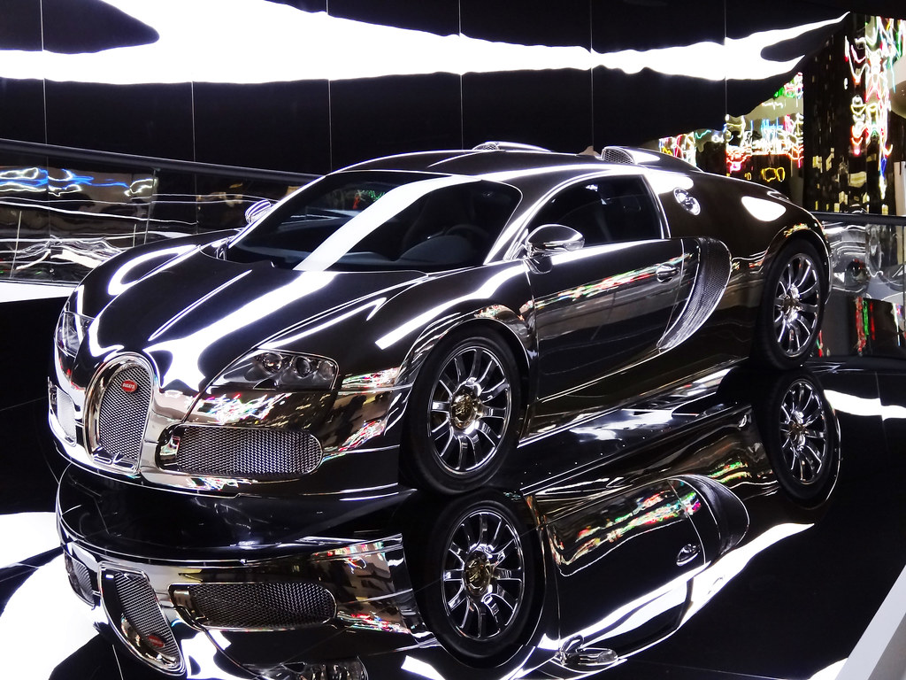 Silver And Chrome Plated Bugatti Veyron Explored Flickr